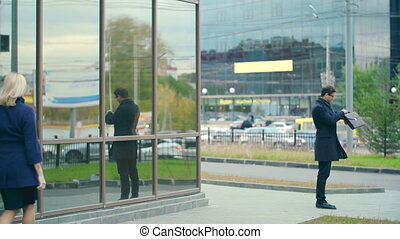 Business Expectations - Smart businessman waiting for his...