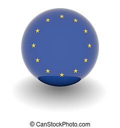 High resolution ball with flag of the European Union