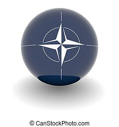High resolution ball with flag of the NATO - 3D Ball with...