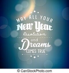 Happy New Year Greetings Vector Design - Happy New Year...