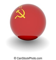High resolution ball with flag of the USSR