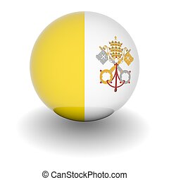 High resolution ball with flag of the Vatican City