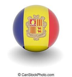 Andorra, alto, bandera, Pelota, resolución