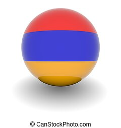 alto, bandera, Pelota, resolución,  Armenia
