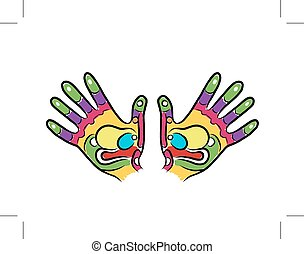 Hands sketch for your design, massage reflexology