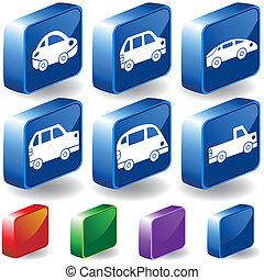Car 3D Buttons