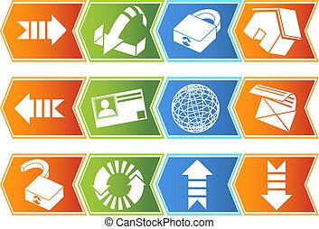 Browser Icon Set Chevron