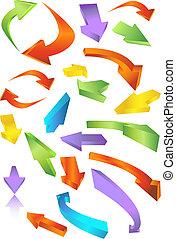 arrow set - arrow icon set isolated on white background.