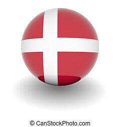 alto, Dinamarca, bandera, Pelota, resolución