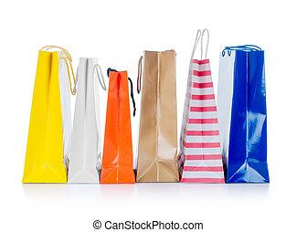 袋, 贈り物, 隔離された, 明るい, 背景, 白