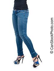 Legs Blue Jeans