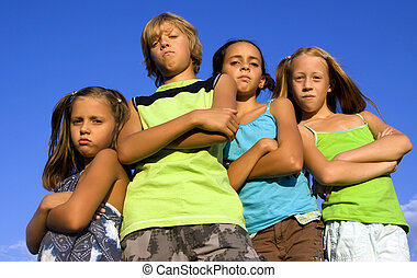 Gang of four serious kids