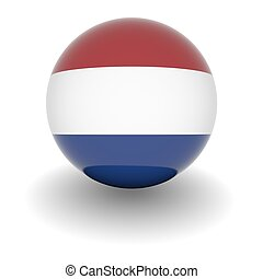 High resolution ball with flag of the Netherlands