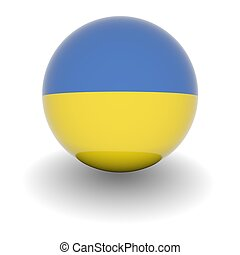 High resolution ball with flag of the Ukraine