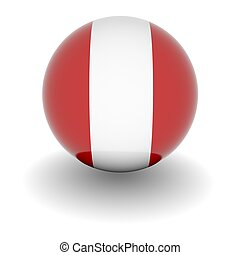 High resolution ball with flag of Peru - 3D Ball with Flag...
