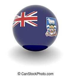 High resolution ball with flag of the Falkland Islands