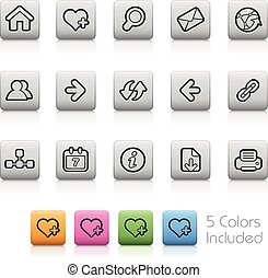 Surf the Net Icons -Outline Buttons