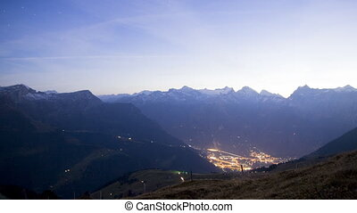 A night in the alps timelapse - Timelapse clips View from...