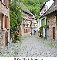 street of the old town in Germany