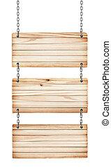 vindima, madeira, sinais, ligado, branca, fundo, isolado,
