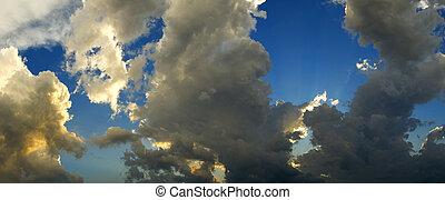 Panoramic of stormy sky