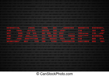 "Binary code ""DANGER"" text - Binary code concept with..."