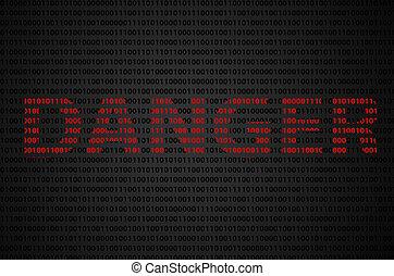"""binario, código, """"DANGER"""", texto,"""