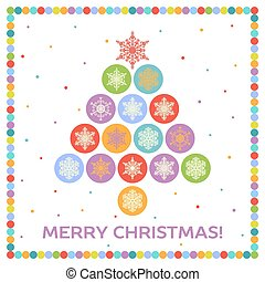 Christmas background with fir tree - Christmas background...