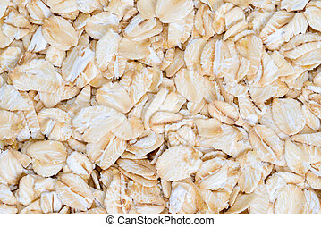 delicious food background of beige cereals closeup