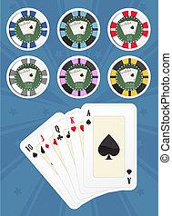 Set poker chips