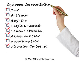 cliente, servicio, habilidades,