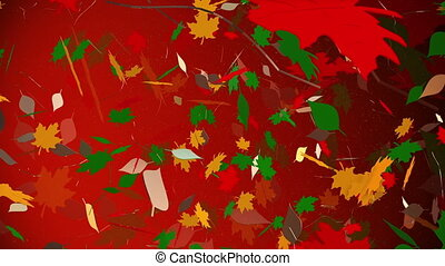 Abstract autumn leaves