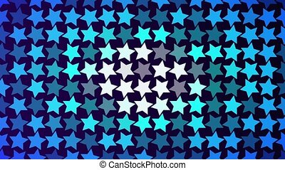 Abstract blue flashing stars