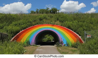 Rainbow tunnel. - Rainbow tunnel beside the Don Valley...