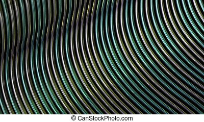 Abstract wire in silver cyan color