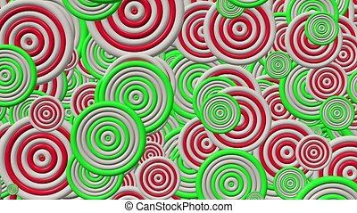 Abstract multicolored circles
