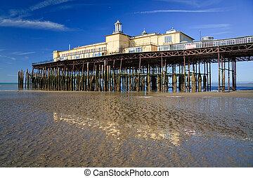 Pier in Hastings, UK - Pier in Hastings before fire, UK