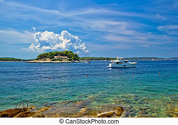 Paklenski islands of Hvar yachting destination in Dalmatia,...