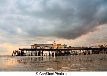 Pier in Hastings, UK.