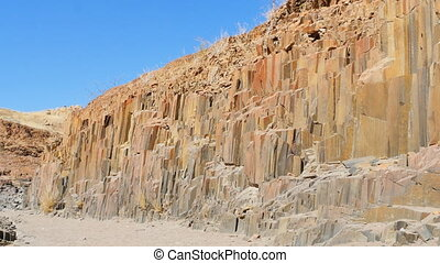 basalt rocks formation namibia - organ pipes basalt columns...
