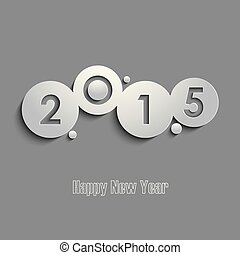 Abstract gray New Years wishes template vector eps 10