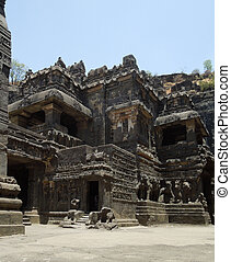 Ellora Caves - scenery at the Ellora Caves in the state...