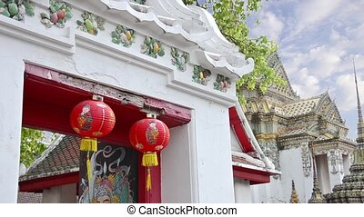 thailand, bangkok, red lanterns - bangkok, red lanterns in...