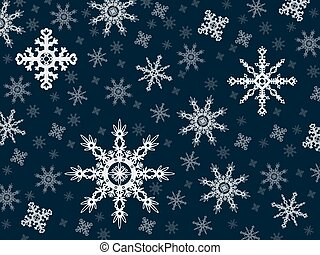 Vector snowflakes on a blue backgro