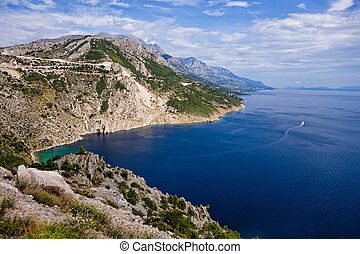 Beautiful coastline makarska riviera - The Makarska Riviera...