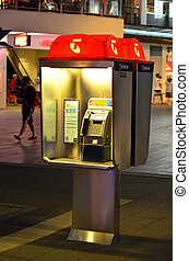 Telstra telephone booth - SURFERS PARADISE, AUS - OCT 28...