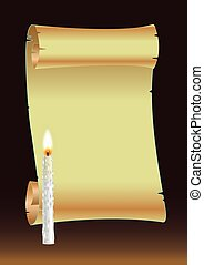 SCROLL AND CANDLE