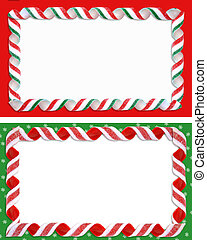 Christmas Label Borders Ribbon Candy - Image and...