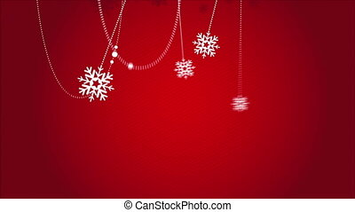 Christmas background - Red Christmas background with...