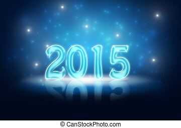 New Years Eve 2015 - Glossy holiday background for New Years...